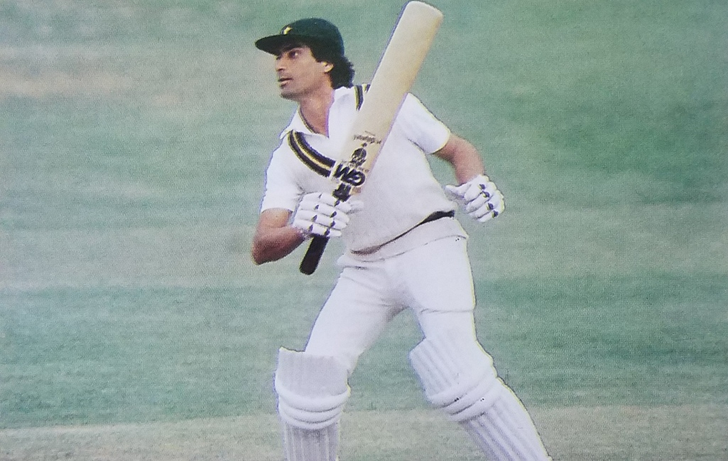 Mohsin Khan Cricketer on the way to 200 Runs at Lords vs England in 1982