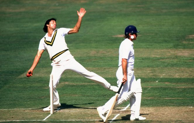 Imran Khan bowls at Lord's in 1982, England v Pakistan, 2nd Test, Lord's, 5th day, August 16, 1982