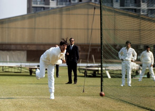 Imran Khan bowls in the nets, Lord's, April 30, 1971