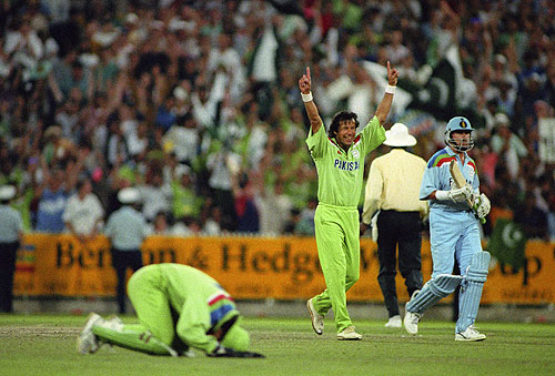 His finest hour was undoubtedly guiding Pakistan to their first World Cup triumph in 1992, top-scoring with 72 in the final against England at MCG in front of 87k spectators.