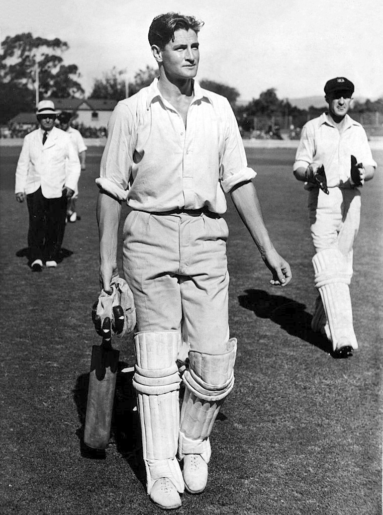 Keith Miller, aged 26, after making 188 for Victoria at the Adelaide Oval, 21 November 1946. The Age Picture by STAFF