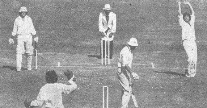 Imran Khan Spell enables Pakistan to win its first-ever Test in Australia at Sydney in 1976-77.