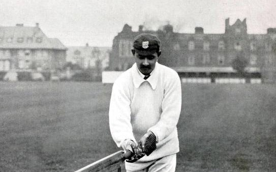 Sport, Cricket, Circa 1900, Kumar Shri Ranjitsinhji, Sussex, (1895-1920) and England, (1896-1902), He was one of the foremost batsman in England, his highest score for Sussex was 285 v Somerset 1n 1901, while a shooting accident resulted in him losing one eye,virtually ending his first class career (Photo by Popperfoto/Getty Images)