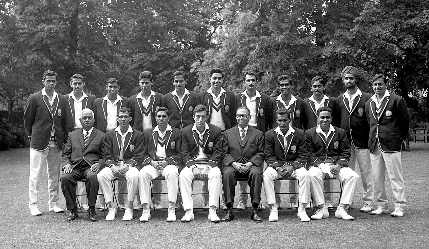 India Touring Squad to England in 1967. Subrata Guha standing 4th from left side