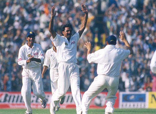 The Karnataka bowler, Javagal Srinath made his Test debut on the Australian tour in 1991, claimed 236 wickets in 67 Tests at an average of 30.49.