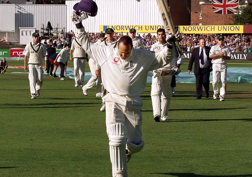 Mark Butcher played a dazzling inning against Australia at the Oval.