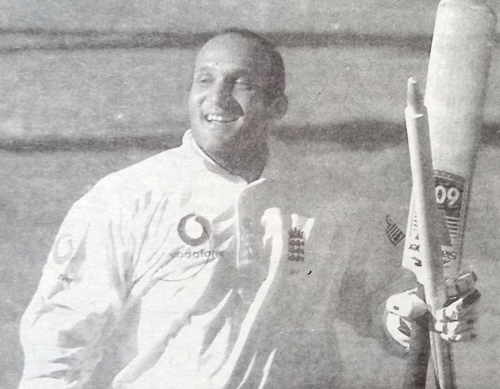 Mark Butcher played a dazzling innings against Australia at the Oval. Mark Butcher Leads with a Dazzler