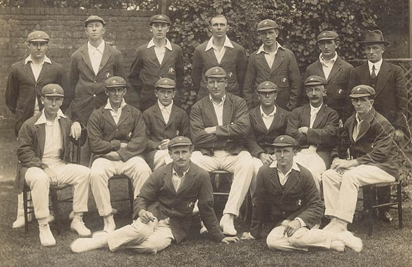 Armstrong (centre, middle row) with his 1920–21 team, considered one of the great Test teams of all time