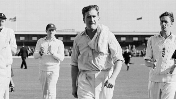 England off spinner Jim Laker was interviewed by John Reason for The Cricketer, England in 1966.