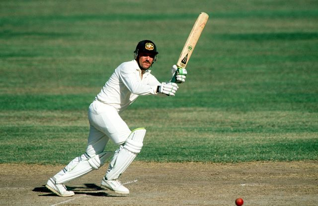 He played a brilliant inning against us in a one-dayer in front of a big crowd at Melbourne during England's 1982–83 tour.