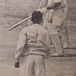 John Reid in India 1965 when he is bewildered by bowled by Chandrasekhar.
