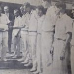 John Reid in India 1965. Introducing his players to Maharashtra Governor, P Cherian