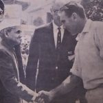 John Reid in India 1965. Shaking hands with Indian Prime Minister, Lal Bahadur Shastri
