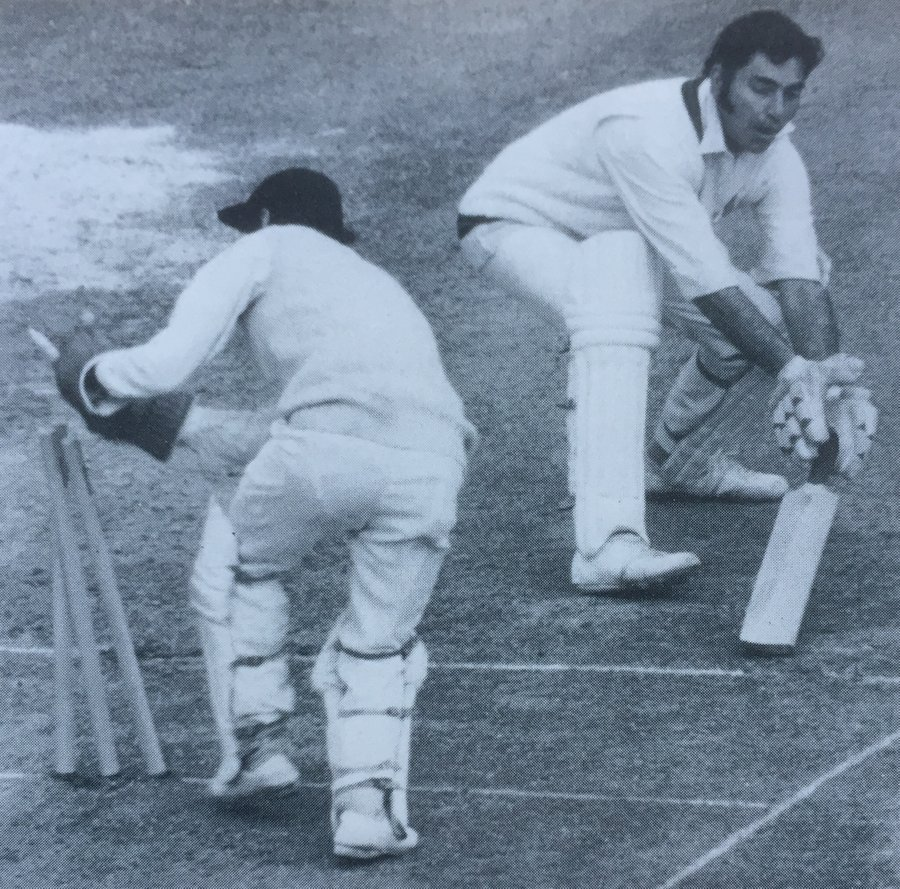 Alan Knott in the 1974 Gillette Final - first he stumped our Rookie here, and then just as we thought Lancs were going to sneak home anyway he put on 33 with Bob Woolmer to win the match for Kent