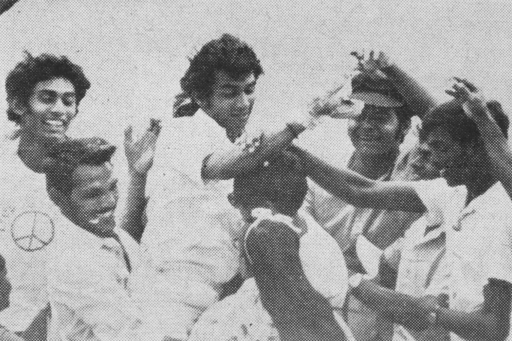 Sunil Gavaskar being chaired off the field after scoring 220 in the 5th Test at Port of Spain at the end of his famous debut series (India won 1-0, Gavaskar scored 774 runs 154.80) - what a scorecard.