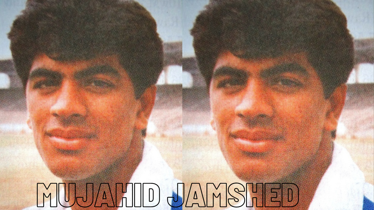 Middle-order right-handed batsman Mujahid Jamshed was born on 1 December 1971, in the small city of Muridke, Punjab.