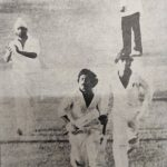 Bishan Bedi. End of the 1978-79 Karachi Test. India lose the Test with 7 balls to spare, lose the series 0-2, Bedi himself conceded 18 runs in an over at the end and is about to lose the captaincy. He applaud Imran and Miandad in the end.