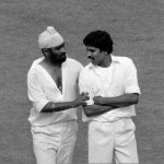 Bishan Singh Bedi With Kapil Dev in his last Test Match at The Oval, 1979